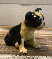 "Vintage 1940's Mortens Studio Boston Terrier Dog Figurine 3.5"" Long x 3"" Tall"