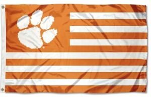 CU Clemson striped 3X5ft Flag
