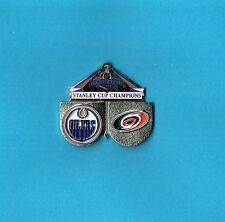 2006 Stanley Cup Playoffs Oilers vs Hurricanes Logo NHL Hockey Pin
