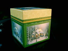 "Thomas Kinkade Painter Of Light Empty Christmas Package Box 6.25"" X 6"" X 6.5"""