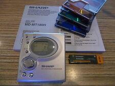 Sharp MD 180 Power  Minidisc MD  Player/Recorder + AL + 3 Sony MD 74 (3061)