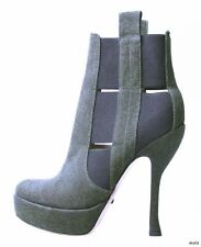 HOT new $750 Jerome ROUSSEAU military green platforms ankle BOOTS 36.5 US 6.5