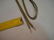 3 m fil câble électrique 2 x 0,5 mm2 couleur or pour luminaire