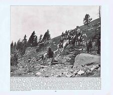 Windy Point, Pike's Peak - Colorado -1894 Vintage Lithograph