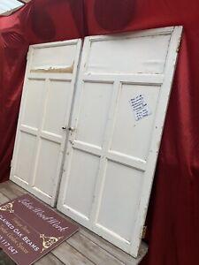 RECLAIMED Georgian - ANTIQUE PINE PAIR of CUPBOARD DOORS Painted, Wide, Vintage