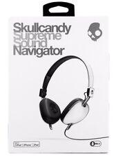 NEW IN BOX Skullcandy Navigator Headphones w/ Mic3 White/Black RP $120 FREE POST