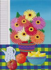 Joanne Netting - Gerberas, acrylic on canvas, Framed