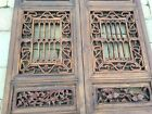 1 Pair of Chinese Qing Dynasty Wooden Temple door panels