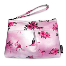 Liquorbrand Flamingo Pink Pouch Bag Purse Retro 50s 60s Rockabilly Vintage Pinup