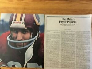 1976 CFL CANADIAN FOOTBALL LEAGUE ARTICLE PHOTOS RED SKINS BRIAN FRYER