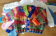 Boys' Handmade Jumpers and Cardigans 0-24 Months