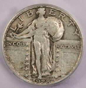 1928-P 1928 Standing Liberty Quarter ICG AU50