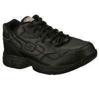 Work Women Slip Resistant 76555 Black Skechers Shoes Memory Foam Comfort Casual