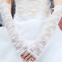 1 Pair Bride Long Lace Arm Elbow Gloves Lace Fingerless Women's Wedding Gloves