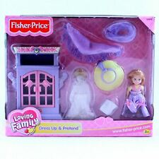NEW Fisher Price Loving Family Dollhouse Dress Up & Pretend Doll Bedroom
