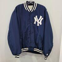 Rare VTG 90s Starter MLB NY New York Yankees Varsity Bomber Jacket Mens L