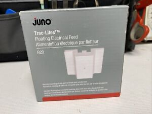 Floating Electric Feed, White - JUNO TRAC-LITES R29 WH, Free Shipping