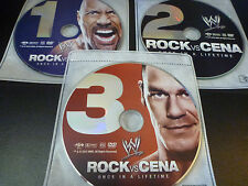 WWE: Once in a Lifetime - The Rock Vs. John Cena (DVD*3-Discs)  *DISCS ONLY*