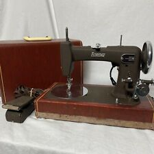 Vintage Eldredge Sewing Machine With Foot Pedal And Handle Carry Case Needs Work