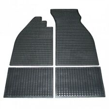1958-1967 VW Bug 4 PC All Weather Floor Mat Set Front & Rear Black Rubber