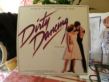 2 SIDED RECORD FLAT DIRTY DANCING PATRICK SWAYZE GREY PROMO POSTER FOR ALBUM HTF