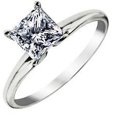 Women Sterling Silver 1.25 Carat Stone Wedding Bridal Engagement Ring Size 6 R46