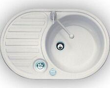 Eurodomo Eurostone Einbauspüle Spüle Spühle Küchenspüle Single 2 Beige Excenter