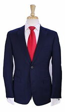 * Z ZEGNA * Very Recent Navy Blue Striped 2-Btn Slim Fit Wool Suit 36S