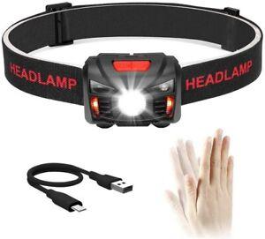 Lampada da testa LED, Luce frontale con fascia elastica per escursioni Campeggio