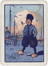 Playing Cards 1 Swap Card Antique Wide Mono Field DUTCH PIPE SMOKING SAILOR MAN