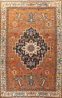 Pre-1900 Antique Geometric Traditional Oriental Area Rug Handmade Wool 10x15 ft