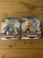 Bob The Builder Lumberjack Bob & Rock Splitting Bob! Die Cast Tools!Fisher Price