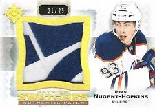 Ryan Nugent-Hopkins 2013-14 Ultimate Premium Swatches 2-Color Logo Patch 21/25