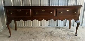 Beautiful Vintage Henkel Harris Jamestown Mahogany Queen Anne Sideboard Credenza