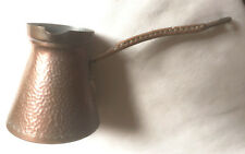 Rare Antique Copper Milk / Water Jug With Long Wicker Covered Handle. French L C