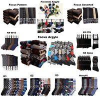 Men Socks Lot Dress Socks 6-12P Fashion Casual Pattern Design Argyle 9-11 10-13
