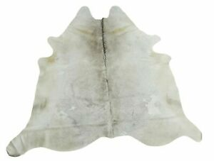 Small Light Grey Cowhide Rug Brazilian Hair On Hide 72 X 72 Inches