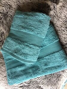Waitrose - John Lewis Egyptian Cotton Bath Sheets Kingfisher Blue  BNWT