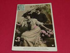 CPA CARTE POSTALE 1908 AMOUR HOMME FEMME JE CHERCHE LE SENTIER QUI MENE A VOTRE.