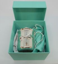 TIFFANY Solid SILVER Christening MUG in original BOX. 76g