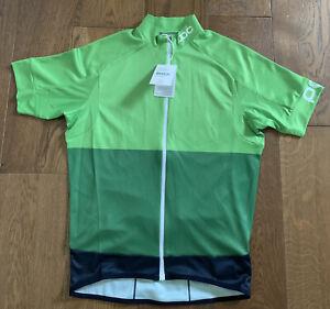 POC Fondo Classic Cycling Mens Jersey M Pyrite Multi Green