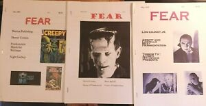 FEAR HORROR MAGAZINE & COMICS FANZINE 1 2 3 SET 2009 WARREN HIGHT GALLERY