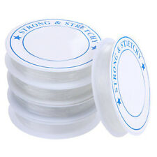 5 Rouleau Bobine Cordon Fil elastique 1mm Transparent M1