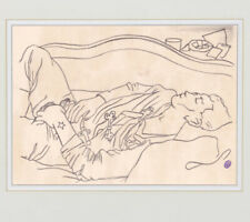 Jean Cocteau Drawing Nude Male Youth Gay Erotic French Homosexual Sketch