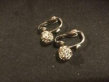 Balls. .25 #1. See Photos. Vintage Clip-On Earrings. Silverlike. Leaves. Little