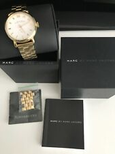 Used Marc Jacobs Ladies Gold Coloured Stainless Steel Baker Watch Boxed