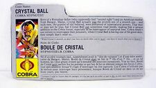 VINTAGE CRYSTAL BALL FILE CARD G.I. Joe Action Figure FRENCH / GOOD SHAPE 1987