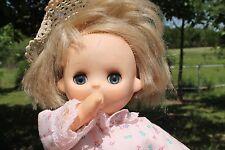 "Uneeda 13"" Vinyl / Cloth Body Talking Doll, Open / Close Blue eyes Lashes, Thumb"