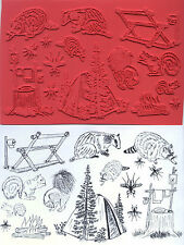 unmounted rubber stamps Camping collection   13 images