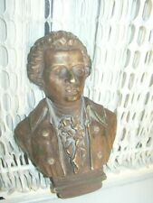 Vintage, Mozart Bust, Wall Plaque 10.5in x 7in